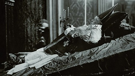 Pope Pius X during his lying in state