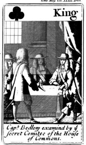 Cavalier Parliament - William Bedloe 'reveals' the Popish Plot to a committee of the House of Commons