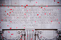 Poppies Falling From the Menin Gate, Ypres MOD 45156405.jpg
