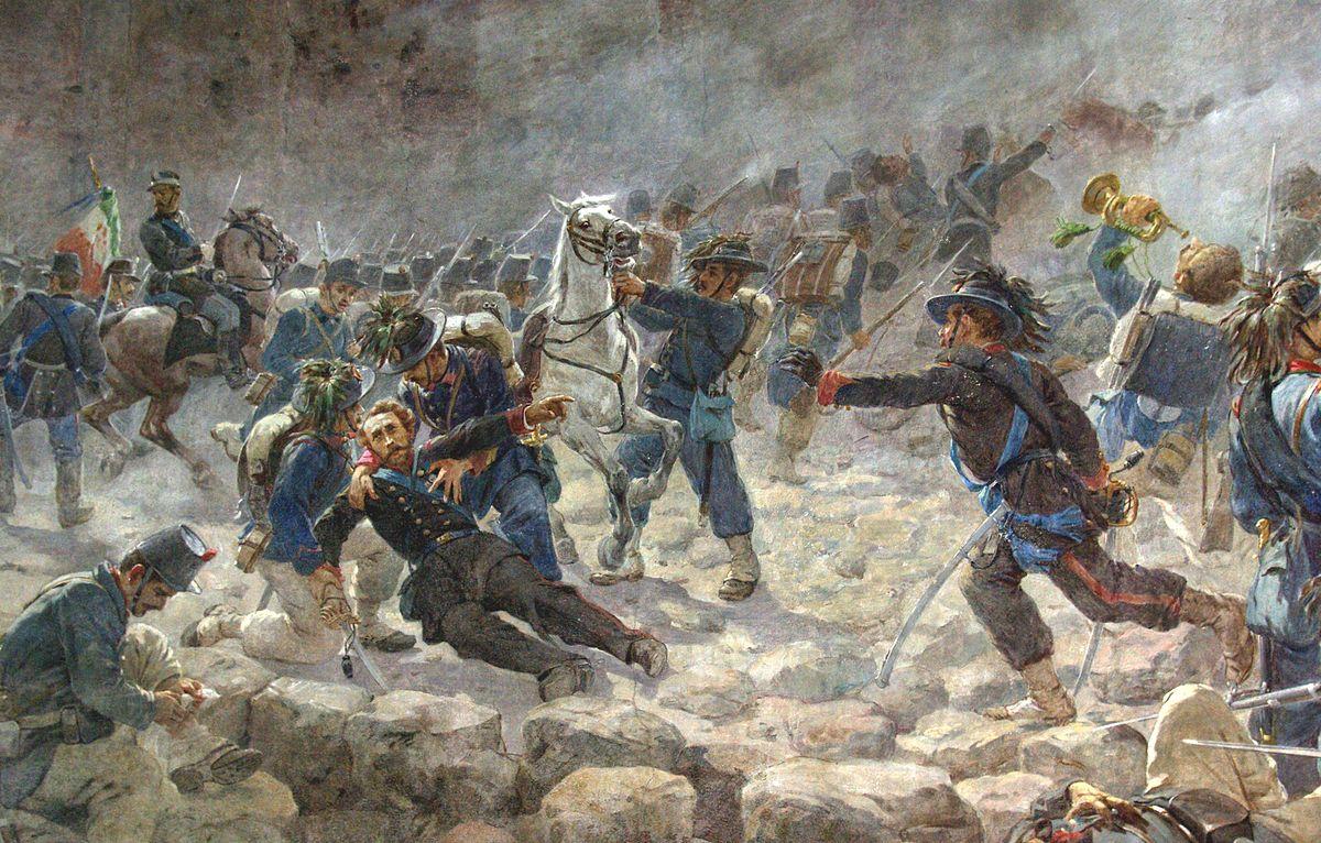 Giuseppe Vizzotto Alberti, La morte del maggiore dei bersaglieri Giacomo Pagliari alla breccia di Porta Pia (1870)