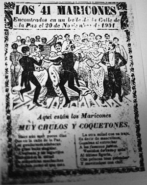Dance of the Forty-One - Hoja Suelta, José Guadalupe Posada, 1901
