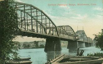 Arrigoni Bridge - Portland Passenger Bridge over the Connecticut River; no longer in existence