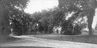 Ridgefield, Connecticut - Main Street, looking south from Branchville Road, about 1906