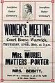 Poster - Josephine Butler Centenary. A Women's Meeting will be held, 1928. (22501614397).jpg