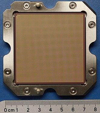 POWER7 - IBM Power7 4ghz 8-way CPU bottom from an IBM 9119