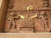 Prag Emmauskloster Bauinschrift reliefiert 201610.jpg