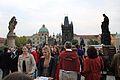 Prague Praha 2014 Holmstad folksomt Karlsbrua Charles Bridge.jpg