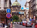 Praha - View NNW down Bělehradská towards Muzeum.jpg