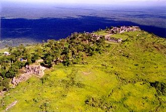 Preah Vihear Temple - The temple is located on a hill, oriented along a north-south axis and facing the plains to the north in what is now Thailand.