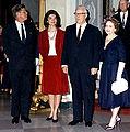 President & First Lady Kennedy with Chief Justice Earl Warren & Mrs. Warren, circa 1962.jpg