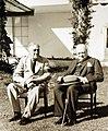 President Franklin Roosevelt and Winston Churchill, Casablanca Conference, 1943 (24382716669).jpg