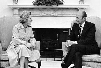 Margaret Thatcher - Thatcher with President Gerald Ford in the Oval Office, 1975