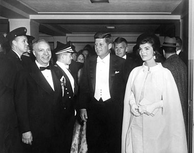 President John F. Kennedy and First Lady Jacqueline Kennedy Arrive at Inaugural Ball.jpg