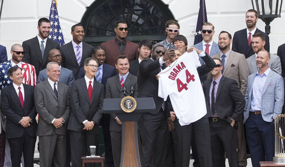 President Obama Welcomes the Red Sox to the White House