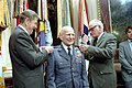 President Ronald Reagan and Senator Barry Goldwater present the fourth star to General Jimmy James Doolittle.jpg