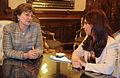 Presidenta Cristina Fernandez y Mirta Roses.jpg
