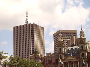 Telkom (South Africa) - Telkom Group Head Office, as seen from Church Square, Pretoria - City Centre (Direction: NNW)