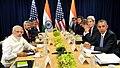 Prime Minister Narendra Modi in the Joint Press Briefing with US President Barack Obama.jpg