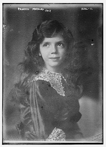 English: Princess Mafalda of Italy (1902-1944)...