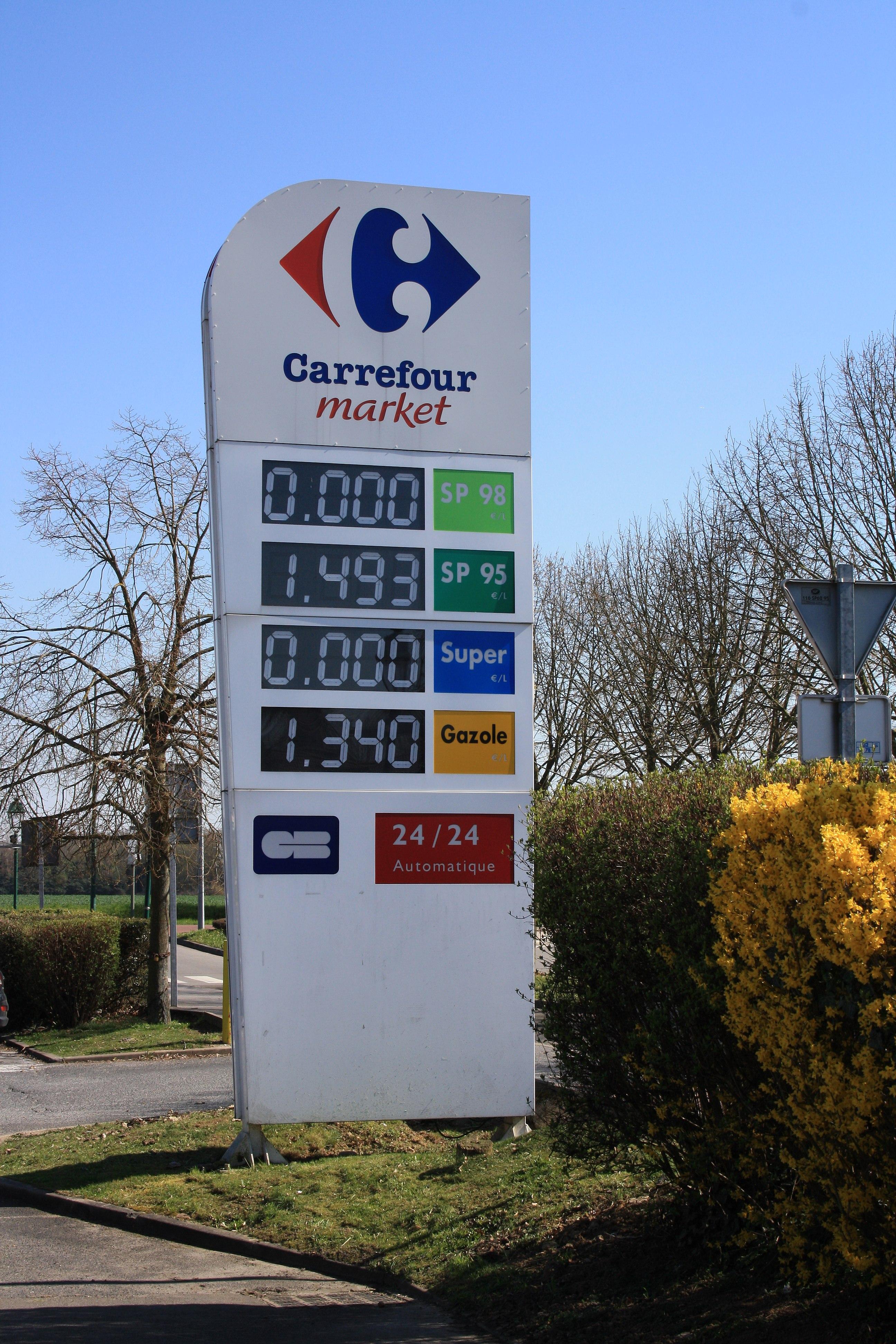 Prix Fuel Carrefour