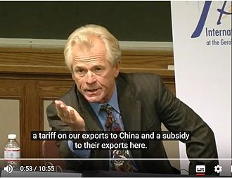 "Causes of unemployment in the United States - Professor Peter Navarro talks his work ""Death by China"" and how China cheats in the world trade system at University of Michigan in 2012"