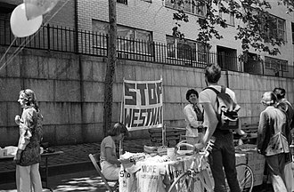West Side Highway - Protesters demonstrating against the Westway project in New York City