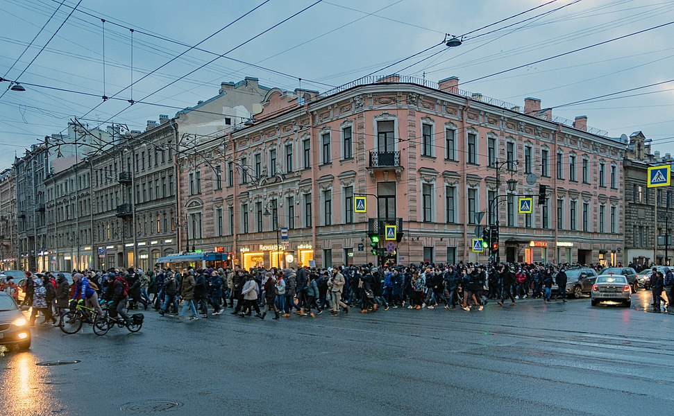 Protests against the arrest of Alexei Navalny. Saint Petersburg, 23 January 2021.jpg