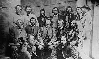 Métis in Canada - Councillors of the Métis Provisional Government, 1870. Louis Riel sits in the centre.