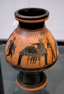 Ancient Greek vase painting studio