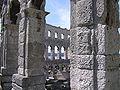 Pula Amphiteathre columns.jpg