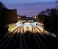 Putney Railway Station at dusk - March 2011.jpg