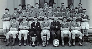 Seán O'Neill - O'Neill (back row; fifth from left) with the 1958 Queens University Belfast Sigerson Cup winning side