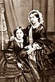 Queen Victoria and her daughter Victoria, Princess Royal.jpg