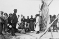 Queensland State Archives 5823 Hon J C Peterson Home Secretary and party with residents of Saibai Torres Strait Island June 1931.png