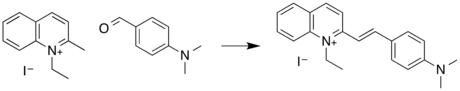 Quinaldine Red synthesis.png