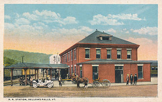 Bellows Falls station - The previous station in Bellows Falls, circa 1915