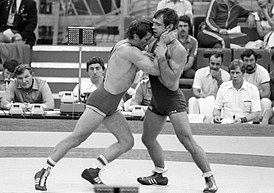 RIAN archive 104494 Greco-Roman wrestlers Ferenc Kocsis and Anatoly Bykov.jpg