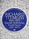 RICHARD TITMUSS 1907-1973 Social Scientist lived here 1951-1973.jpg