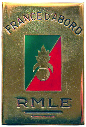 Marching Regiment of the Foreign Legion - Insignia of the R.M.L.E
