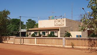 Radio Télévision du Burkina - Headquarters of the Radio Burkina, part of Burkina Faso's national broadcasting company RTB in Ouagadougou