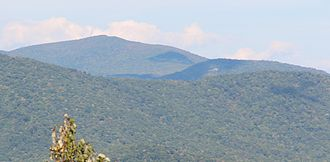 Flat Top (Georgia) - Rabun Bald (left) and Flat Top (right), viewed from Black Rock Mountain State Park