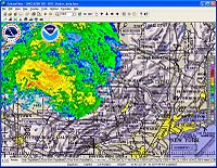 FalconView Screen Capture Showing Weather Radar from KMZ