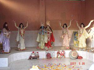 Radha Krishna in a temple Mymensingh