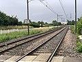 Rails Ligne Mâcon Ambérieu près Passage Niveau 4 St Jean Veyle 3.jpg