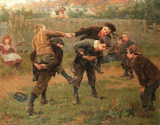 Ralph Hedley The tournament 1898