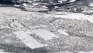EISCAT - EISCAT Ramfjordmoen facility (near Tromsø) in winter