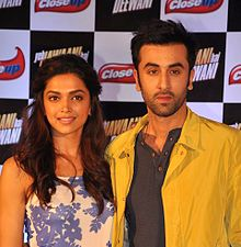 Deepika Padukone and Ranbir Kapoor are posing for the camera together