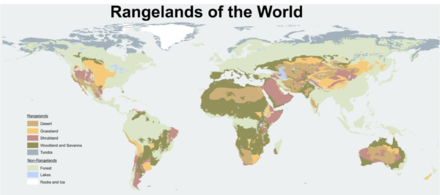 A Map Showing The Worlds Rangelands And Areas That Are Not Rangeland