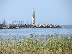 Ezbet El Borg - The Ras El Bar lighthouse seen from Ezbet El Borg.