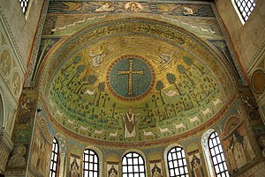 Ringed cross - Crux Gemmata at Basilica of Sant'Apollinare in Classe